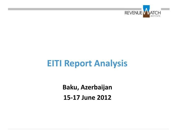 Eiti report analysis