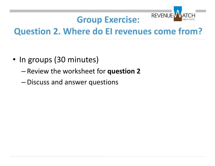 Group Exercise: