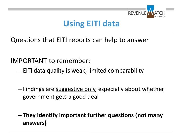Using EITI data