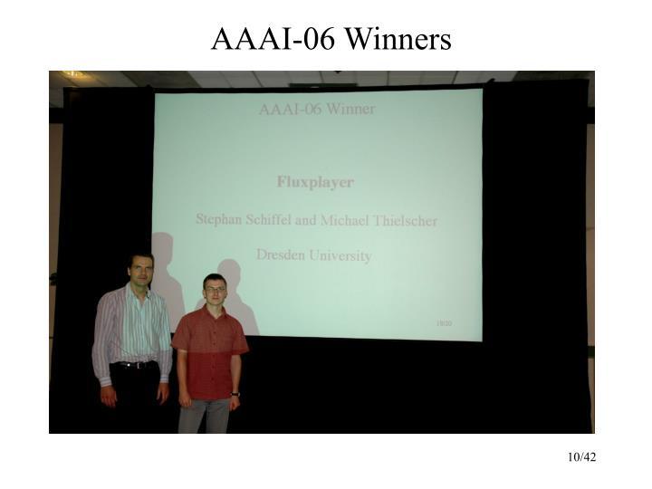 AAAI-06 Winners