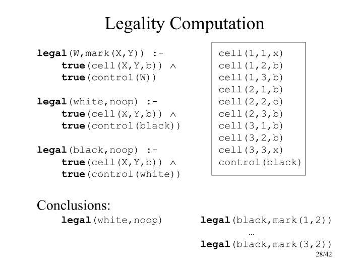 Legality Computation