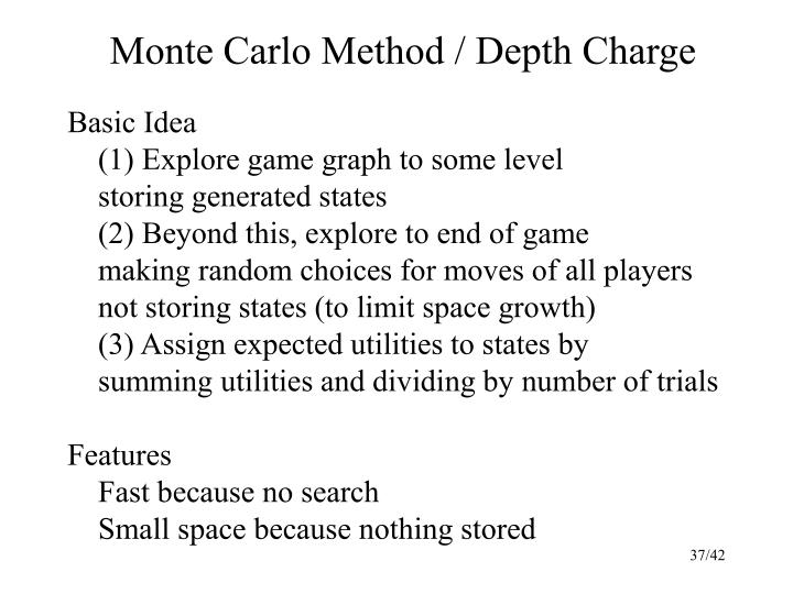 Monte Carlo Method / Depth Charge