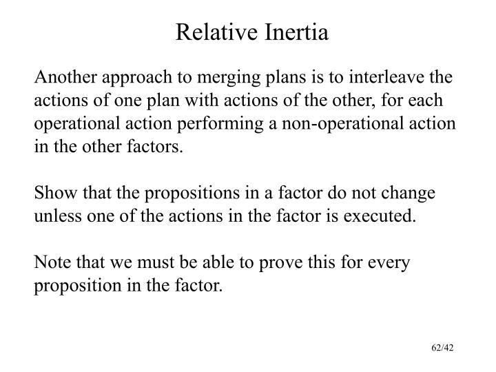 Relative Inertia
