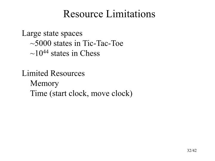 Resource Limitations