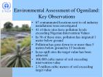 environmental assessment of ogoniland key observations
