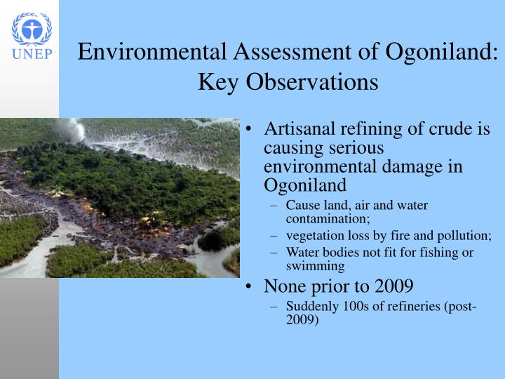 Artisanal refining of crude is causing serious environmental damage in Ogoniland