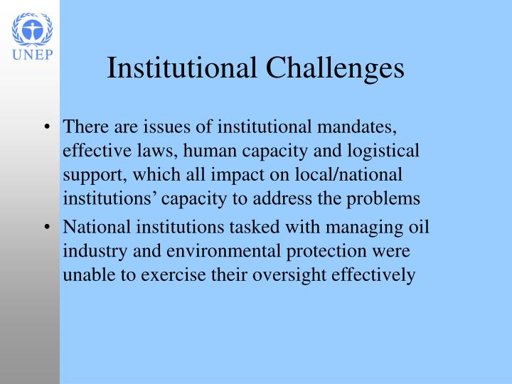 Institutional Challenges