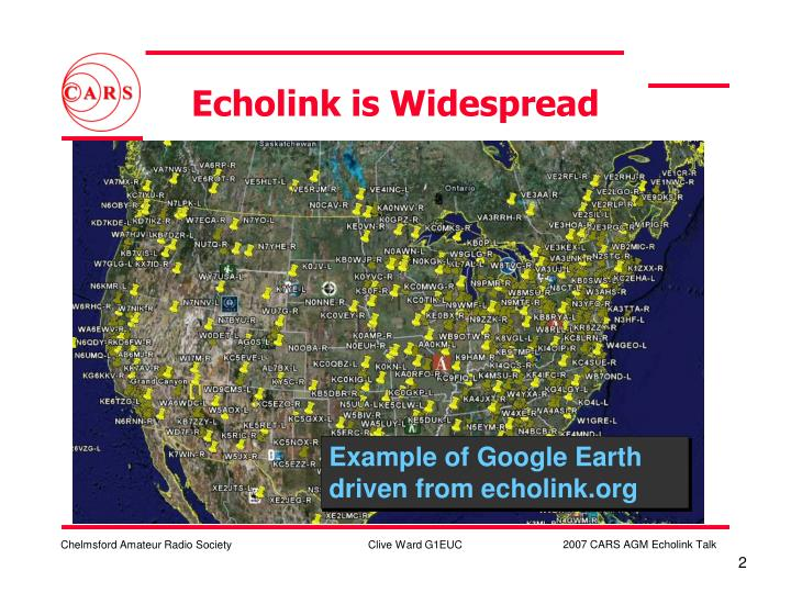 Echolink is widespread