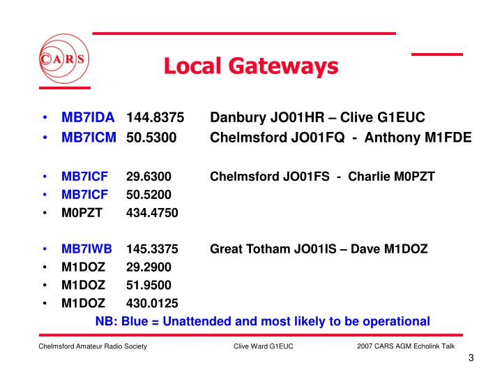 Local gateways
