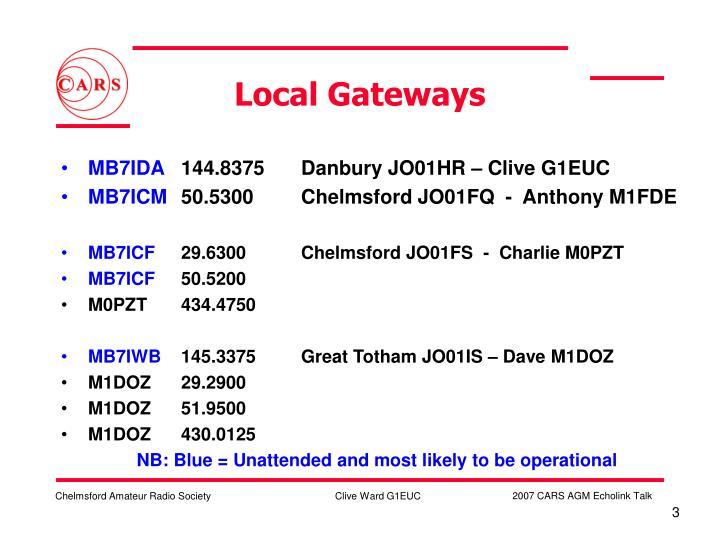 Local Gateways
