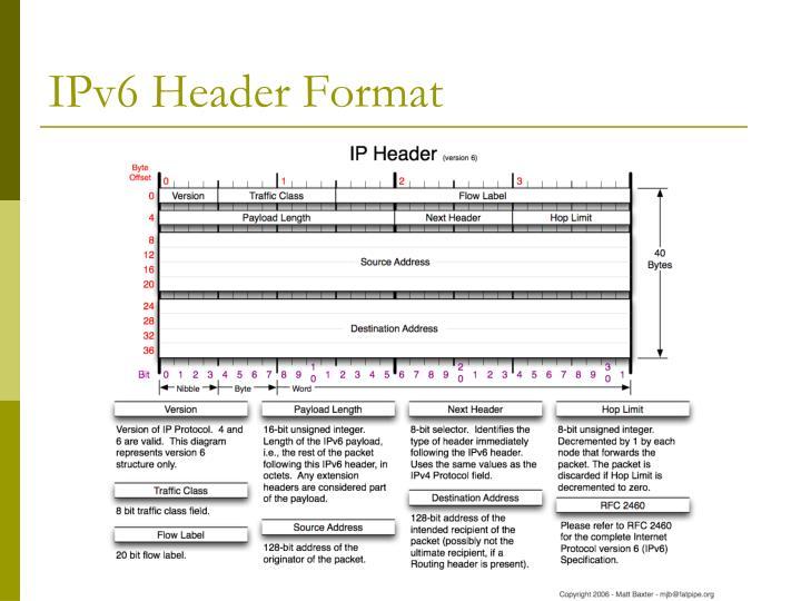 IPv6 Header Format