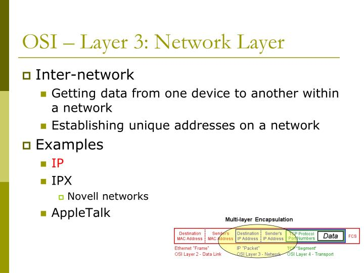 OSI – Layer 3: Network Layer