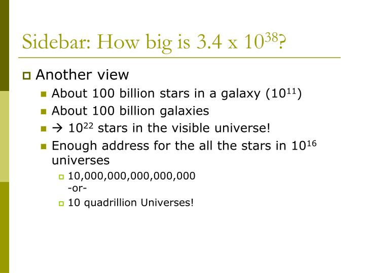 Sidebar: How big is 3.4 x 10