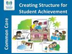 creating structure for student achievement