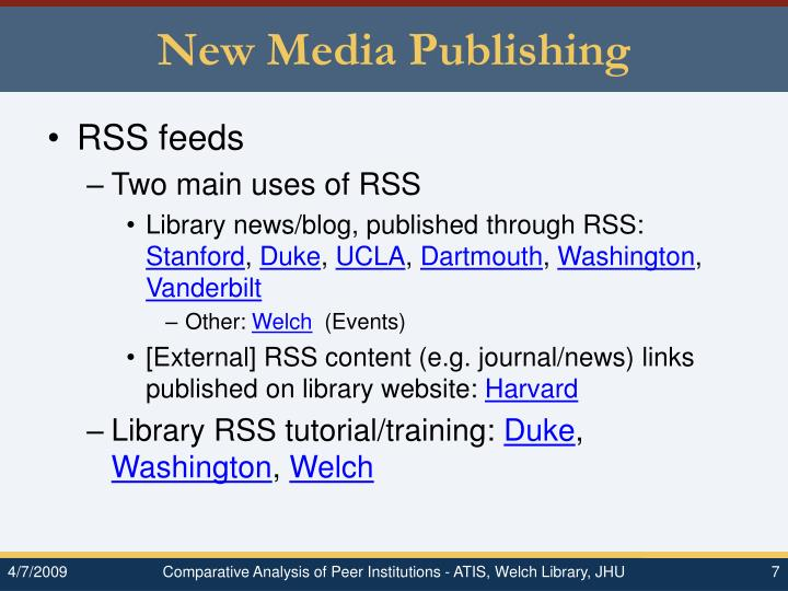 New Media Publishing