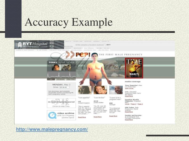 Accuracy Example