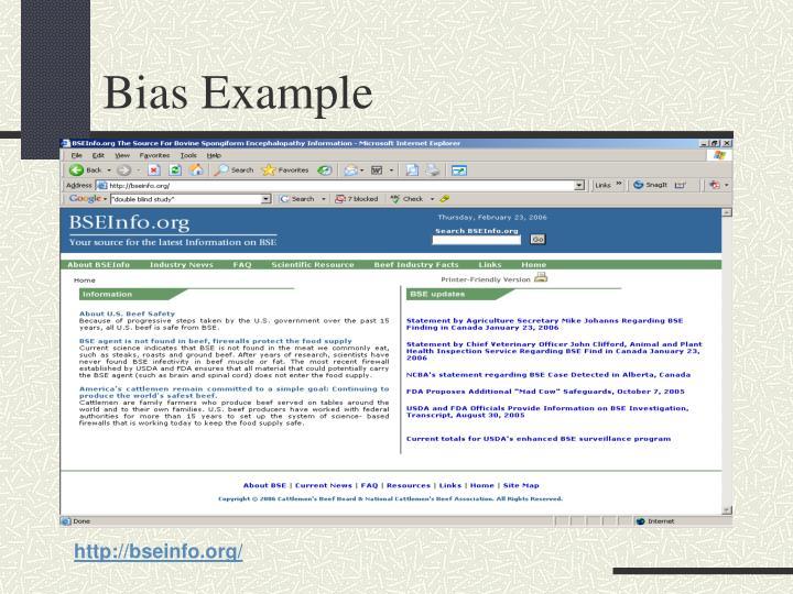 Bias Example