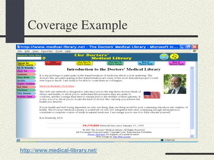 Coverage Example