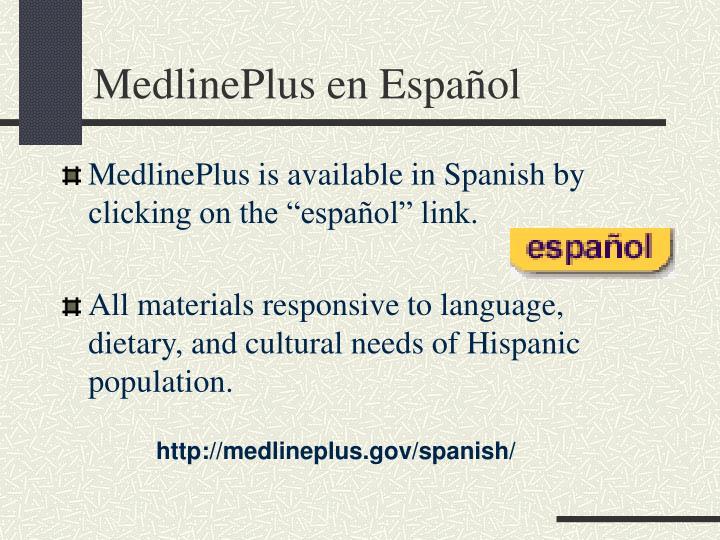 MedlinePlus en Español