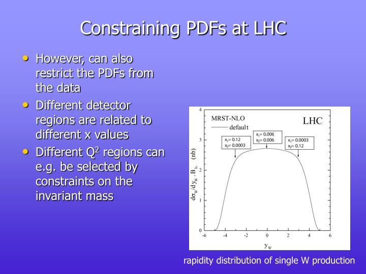 Constraining PDFs at LHC
