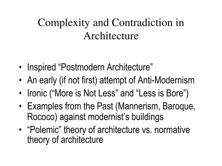 complexity and contradiction in architecture Robert venturi: complexity and contradiction in architecture: amazonca: arthur drexler, robert venturi, vincent scully: books.
