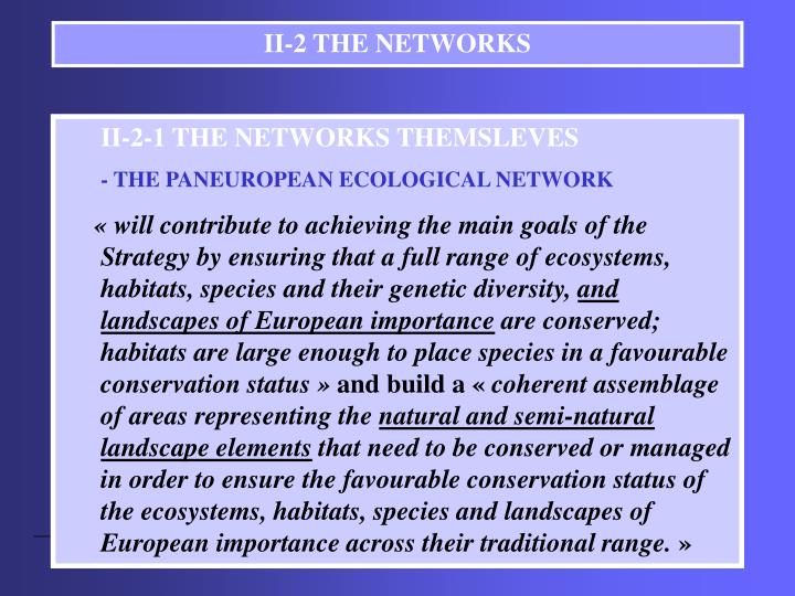 II-2 THE NETWORKS