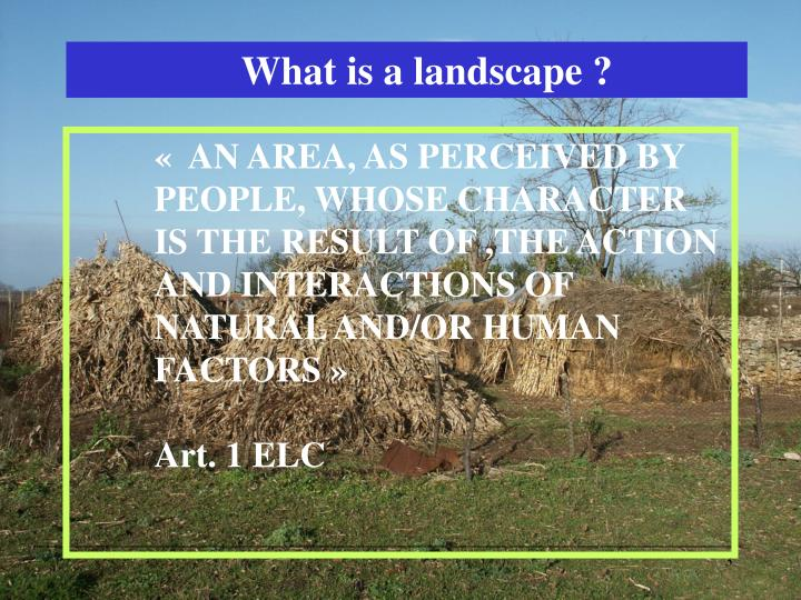What is a landscape ?