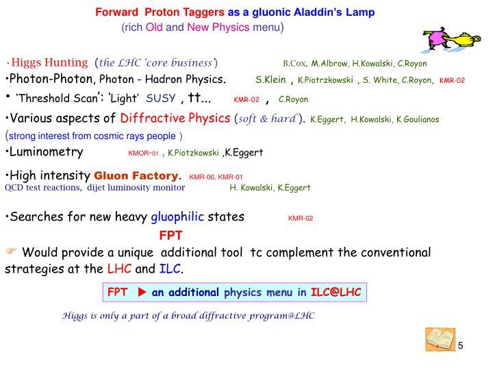 Forward  Proton Taggers