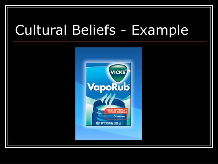 Cultural Beliefs - Example