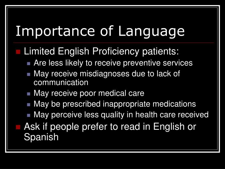 Importance of Language