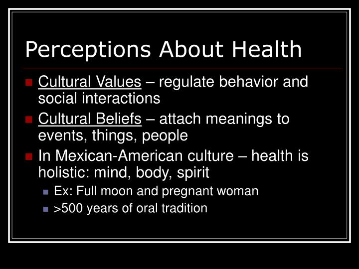 Perceptions About Health