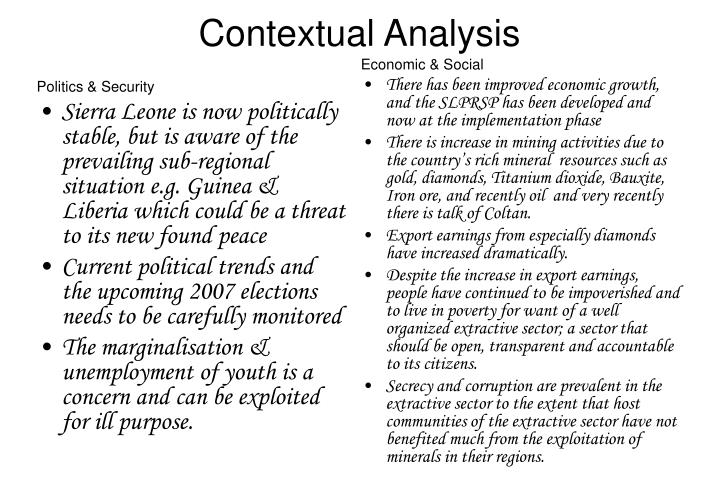 Contextual analysis
