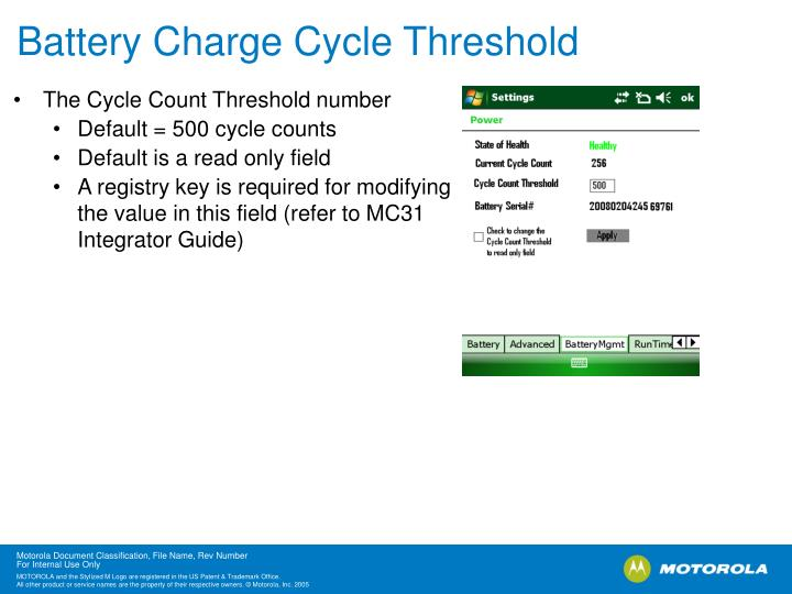 Battery Charge Cycle Threshold