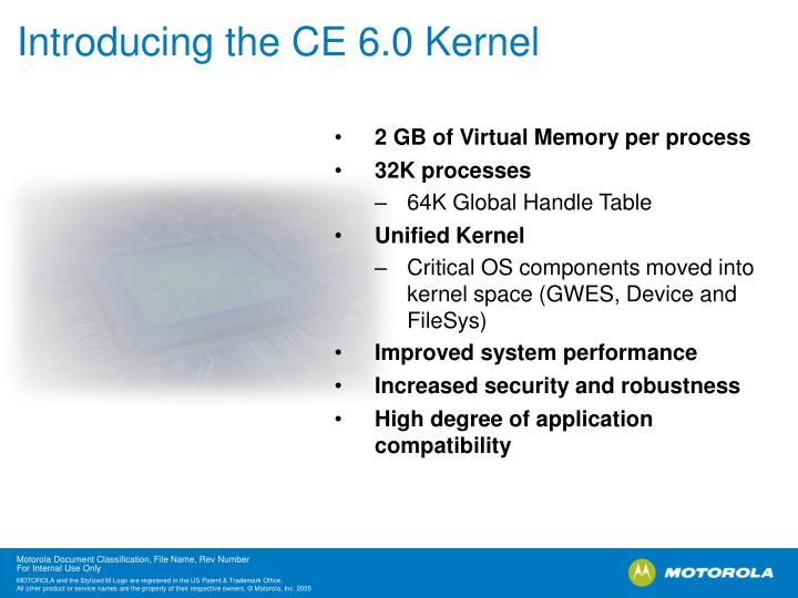 Introducing the CE 6.0 Kernel