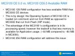 mc3100 ce 5 0 vs mc3100 ce6 0 available ram