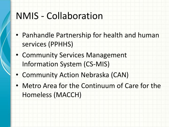 Nmis collaboration