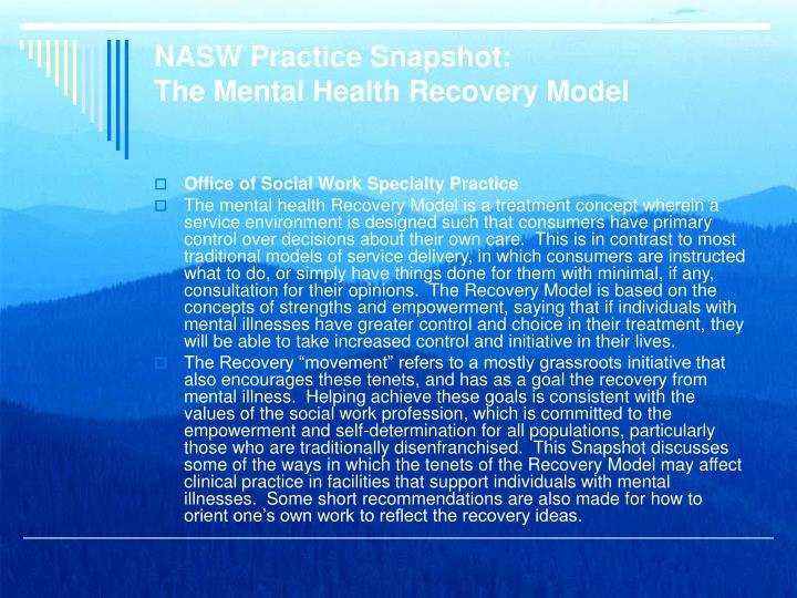 NASW Practice Snapshot: