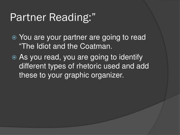 "Partner Reading:"""