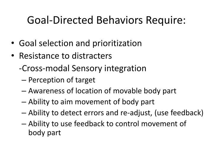 Goal-Directed Behaviors Require: