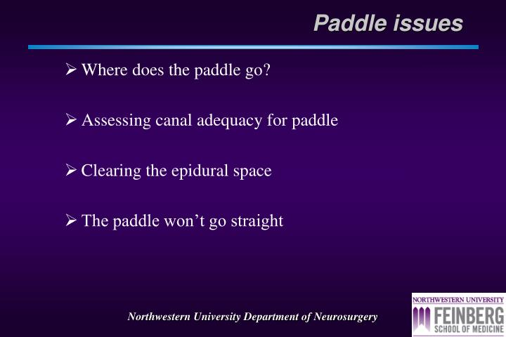 Paddle issues