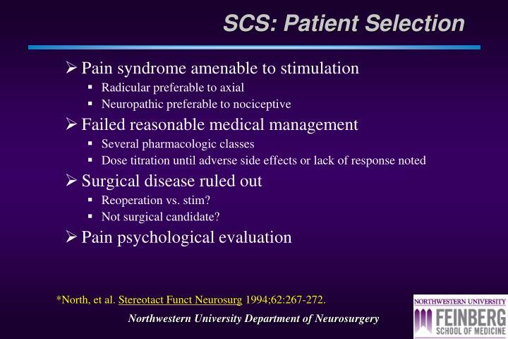 SCS: Patient Selection