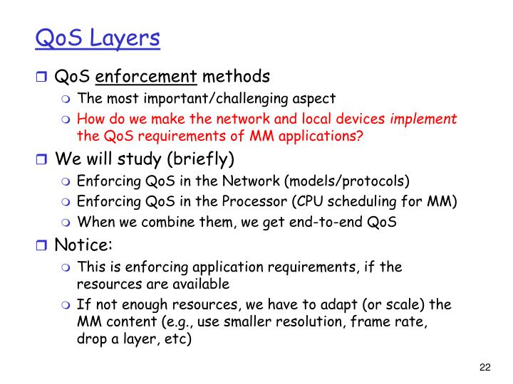 QoS Layers