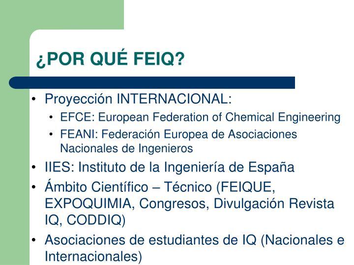 Proyección INTERNACIONAL: