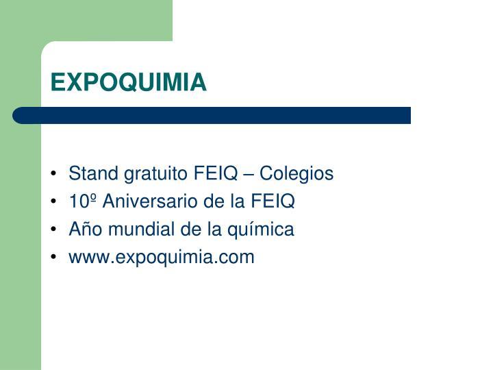 Stand gratuito FEIQ – Colegios