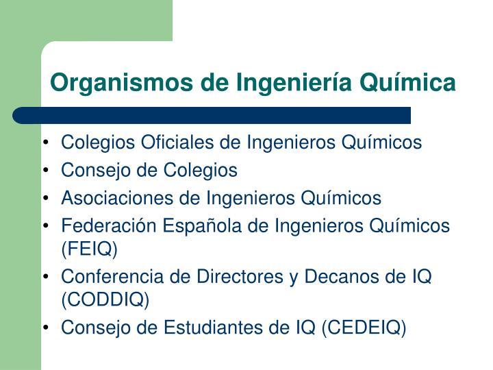 Colegios Oficiales de Ingenieros Químicos