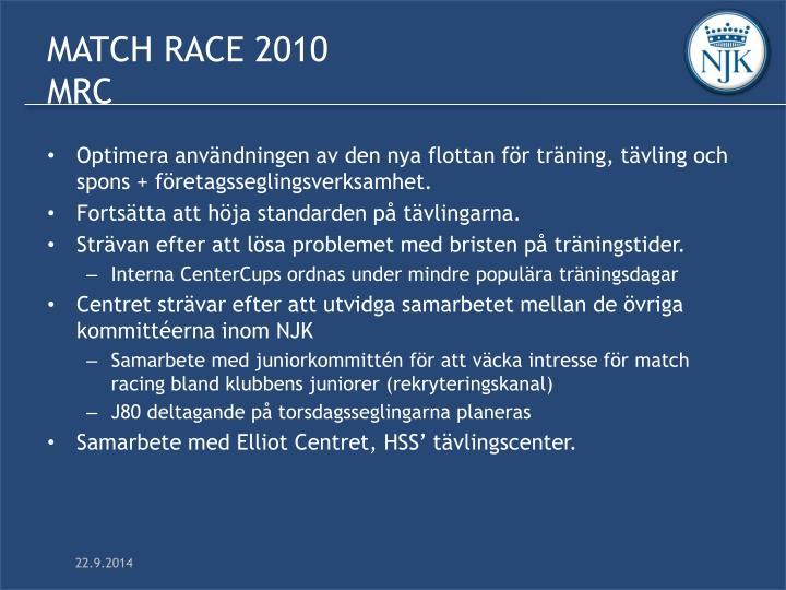MATCH RACE 2010