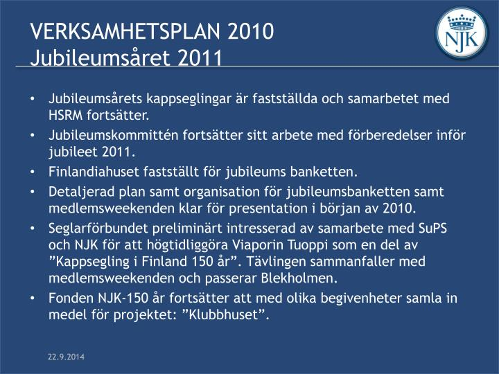 VERKSAMHETSPLAN 2010