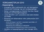 verksamhetsplan 2010 kappsegling