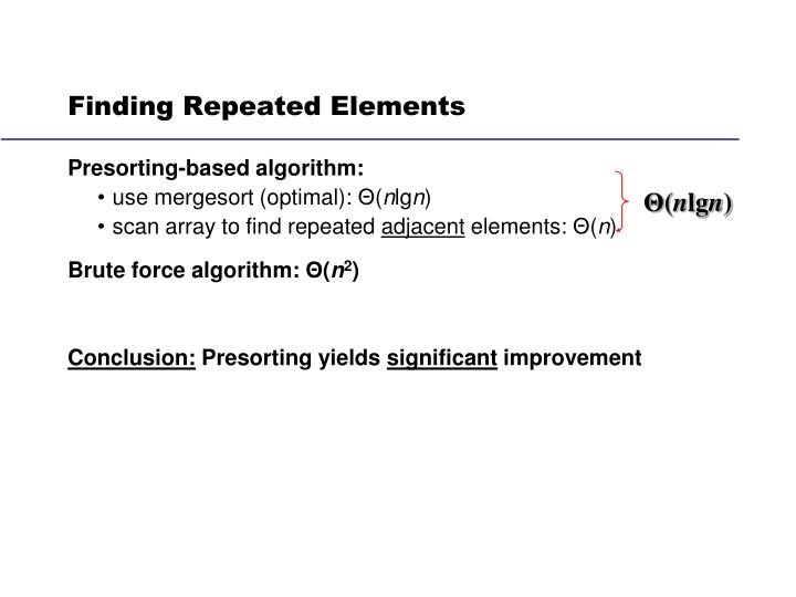 Finding Repeated Elements