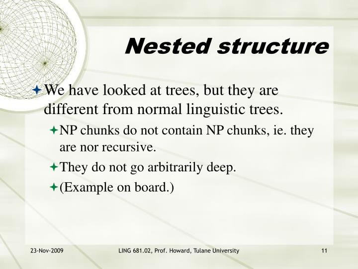 Nested structure